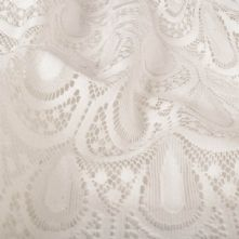Ivory Raschel Lace Dress Fabric 145cm Wide